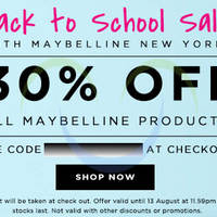 Read more about Luxola 30% OFF Maybelline Coupon Code (NO Min Spend) 10 - 13 Aug 2014