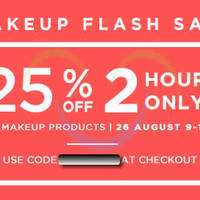 Read more about Luxola 25% OFF Makeup 2hr Coupon Code (NO Min Spend) 26 Aug 2014