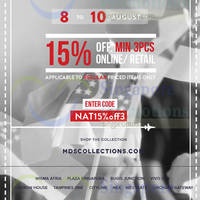 Read more about MDS Collections 15% OFF Storewide Promo 8 - 10 Aug 2014