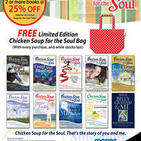 Read more about MPH Bookstores 20% OFF Chicken Soup For The Soul Books 1 - 31 Aug 2014