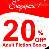 Read more about MPH Bookstores 20% OFF Adult Fiction Books @ Raffles City 9 Aug 2014