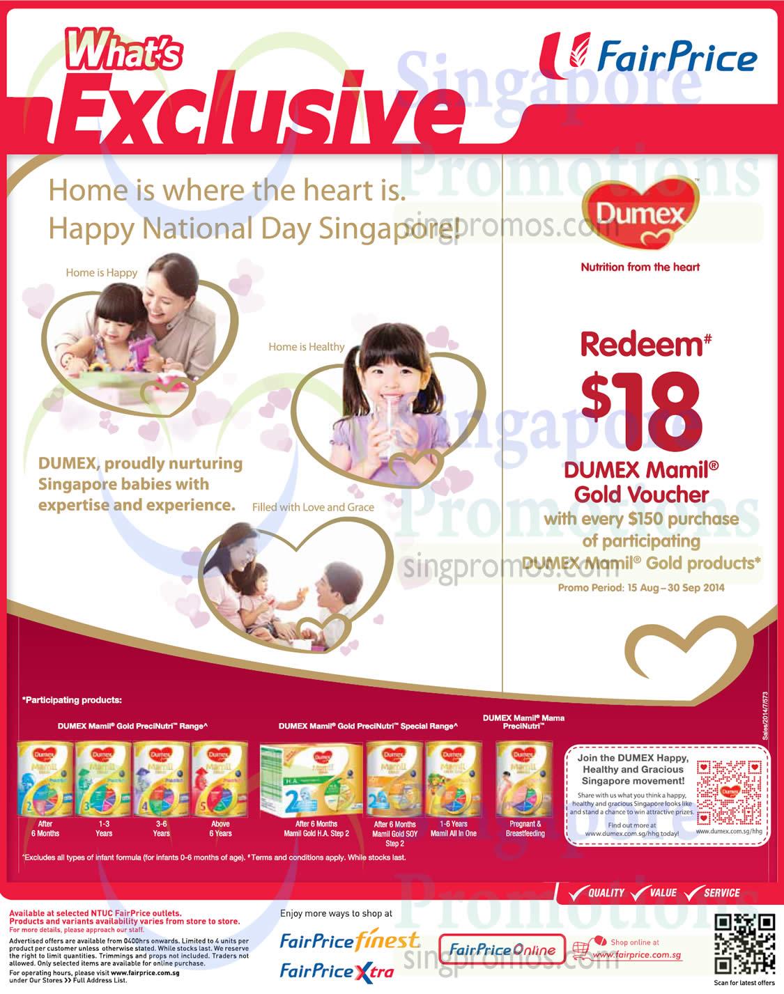 Baby Gift Ntuc : Dumex spend get voucher ntuc fairprice aug