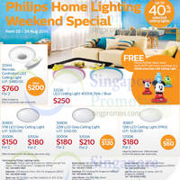 Philips Home Lighting Ceiling Lights Weekend Special 22 - 24 Aug 2014