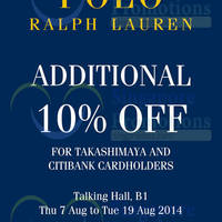 Read more about Polo Ralph Lauren SALE @ Takashimaya 7 - 19 Aug 2014
