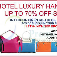 Reluzza Luxury Branded Handbags Sale @ Intercontinental Hotel 13 - 14 Sep 2014