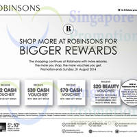 Robinsons Spend $120 & Get Free $12 Voucher 28 - 31 Aug 2014