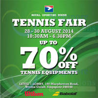 Read more about Royal Sporting House Tennis Fair @ Wisma Gulab 28 - 30 Aug 2014