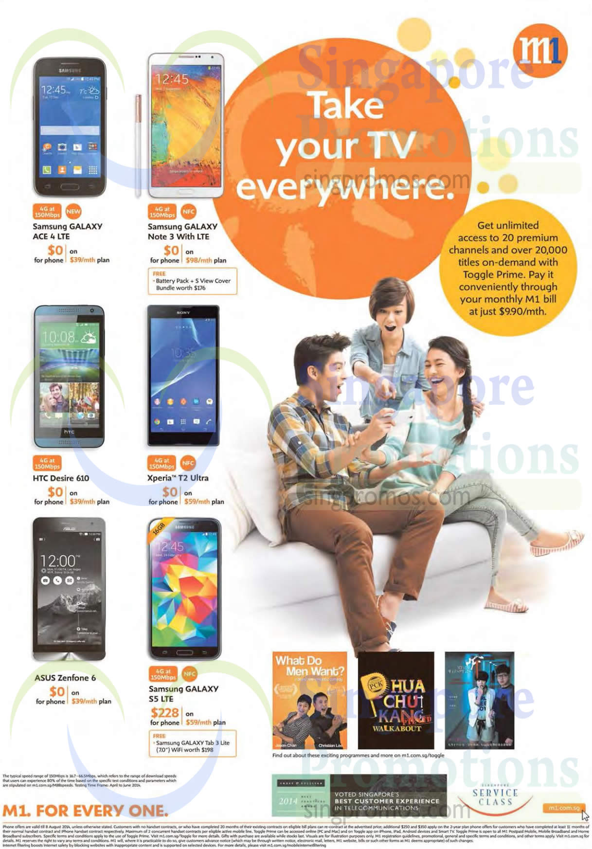 Samsung Galaxy Ace 4, Samsung Galaxy Note 3, Samsung Galaxy S5, HTC Desire 610, Sony Xperia T2 Ultra, Asus Zenfone 6