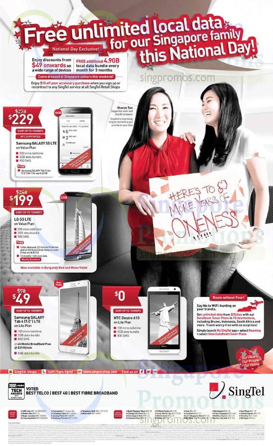 Samsung Galaxy S5, Samsung Galaxy Tab 4 7.0, LG G3, HTC Desire 610