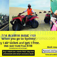Read more about Scoot 1 for 1 Sydney Promo Air Fares 14 - 15 Aug 2014