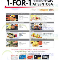 Read more about Sentosa Restaurants 1 For 1 Dining Treats For OCBC Cardmembers 1 Aug - 30 Sep 2014