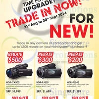 Read more about Sony Digital Handycam Camcorders Trade-in Promo 21 Aug - 30 Sep 2014