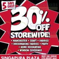 Read more about Spotlight 30% OFF Storewide SALE @ Plaza Singapura 13 - 17 Aug 2014