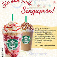 Read more about Starbucks $4.90 Strawberry Cheesecake / Tiramisu Frappuccino Promo 7 - 11 Aug 2014