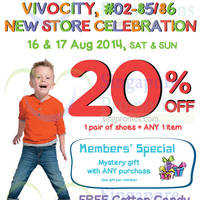 Read more about Stride Rite 20% OFF Storewide Promo @ VivoCity 16 - 17 Aug 2014