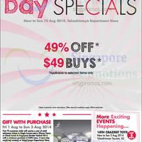 Read more about Takashimaya 49% OFF & $49 Buys National Day Promo 1 - 10 Aug 2014