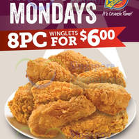 Read more about Texas Chicken $6 8pc Winglets Mondays Promo 18 Aug 2014