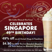 Read more about The Coffee Bean & Tea Leaf National Day Promotions 8 - 10 Aug 2014