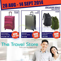 The Travel Store 20% OFF Storewide Promotion 28 Aug - 14 Sep 2014