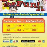 Timezone 100% Extra Double Dollar Sundays Promo 7 - 28 Sep 2014