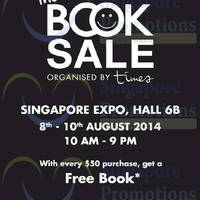 Read more about Times Bookstores Book Sale @ Singapore Expo 8 - 10 Aug 2014