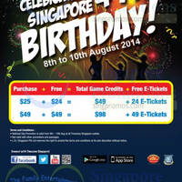 Read more about Timezone Buy $25 & Get $49 Game Credits & 24 E-Tickets National Day Promotion 8 - 10 Aug 2014