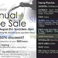 Read more about Top Wines Annual Sale 15 - 17 Aug 2014