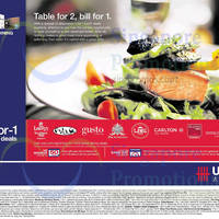 UOB Dining 1 For 1 Lunch Promotions 21 Aug - 31 Oct 2014