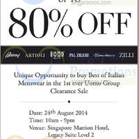 Read more about Branded Italian Menswear Fashion (UOMO Group) Luxury Sale 24 Aug 2014