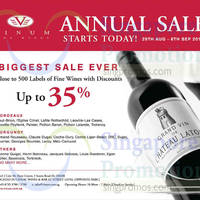 Read more about Vinum Fine Wines Annual Sale 29 Aug - 6 Sep 2014