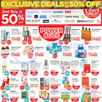 Read more about Watsons Buy 1 Get 1 Free Offers & 50% Off 2nd Buy (Selected Brands) 20 - 24 Aug 2014