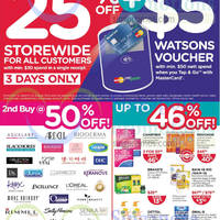 Watsons 25% OFF Storewide 3 Days Sale 23 - 25 Aug 2014