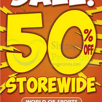 Read more about World of Sports 50% OFF Storewide SALE @ Tampines 1 8 - 17 Aug 2014