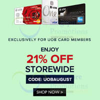 Read more about Zalora 21% OFF Storewide For UOB Cardmembers 15 - 31 Aug 2014