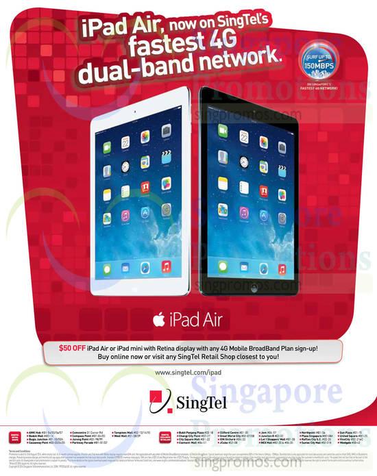 iPad Air or Ipad Mini 50 Dollar Off with Broadband Plan Sign-up