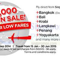 Read more about Air Asia 1.5 Million Seats From $5 Sale 22 Sep - 5 Oct 2014