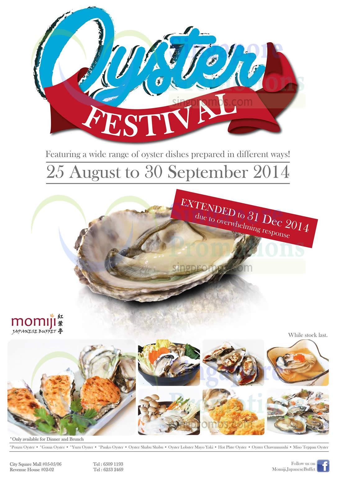 17 Oct Oyster Festival Extended Till 31 Dec