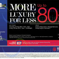 Read more about Valiram Up To 80% OFF SALE @ Changi Airport 25 - 26 Sep 2014