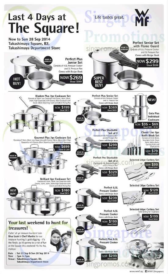25 Sep WMF Cookware Sets Perfect Plus, Diadem Plus, Gourmet Plus, Classic Line, Brilliant, Perfect Pro, Gala Plus