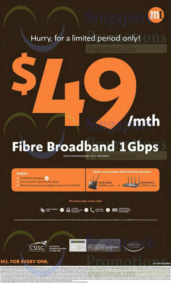 49.00 Fibre Broadband 1Gbps