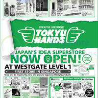 Read more about Tokyu Hands Opening Specials @ Westgate 4 Sep 2014