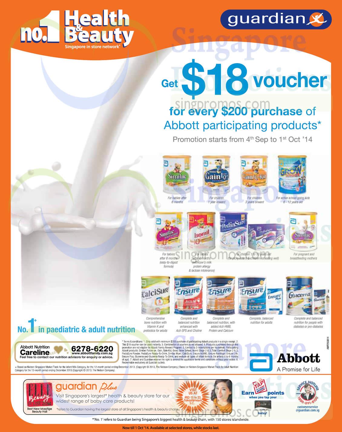 Abbott Milk Powder Free 18 Dollar Voucher Promotion