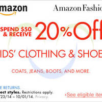 Read more about Amazon.com 20% OFF Kids Clothing & Shoes Coupon Code 23 Sep - 1 Oct 2014