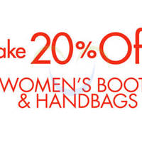 Amazon.com 20% OFF Women's Boots & Handbags Coupon Code (NO Min Spend) 21 Sep 2014