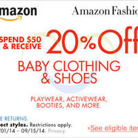 Read more about Amazon.com 20% OFF Baby & Maternity Coupon Code 11 - 16 Sep 2014