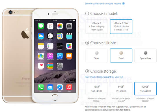 Apple iPhone 6 Pre-Order Singapore