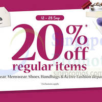 Read more about BHG 20% OFF Promotion 12 - 28 Sep 2014