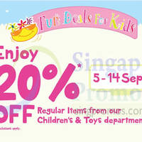 Read more about BHG 20% OFF Children & Toys Items 5 - 14 Sep 2014