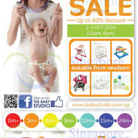 Read more about Baby Studio Warehouse SALE Up To 80% Off 2 - 4 Oct 2014
