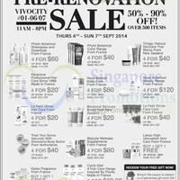 Read more about Beauty by Nature Pre-Renovation Sale @ VivoCity 4 - 7 Sep 2014